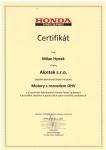 Certifikát Honda MH