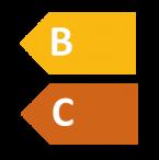 Evropský energetický štítek B a C